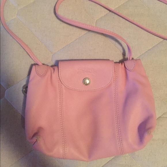 Longchamp Le Pliage Cuir Small Crossbody Bag